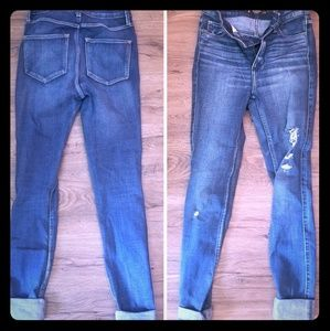 High waisted Abercrombie and Fitch skinny jeans